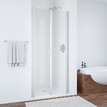 Душевая дверь Vegas-Glass E2P 0075 07 01 профиль матовый хром стекло прозрачное