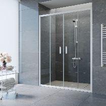 Душевая дверь Vegas-Glass Z2P 150 01 01 профиль белый стекло прозрачное
