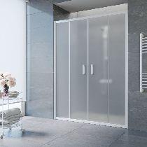Душевая дверь Vegas-Glass Z2P 150 01 10 профиль белый стекло сатин