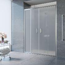 Душевая дверь Vegas-Glass Z2P 150 08 10 профиль хром стекло сатин