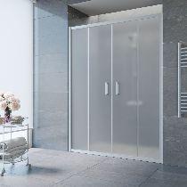 Душевая дверь Vegas-Glass Z2P 150 07 10 профиль матовый хром стекло сатин
