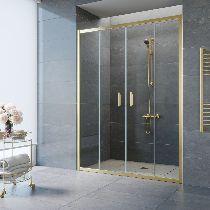 Душевая дверь Vegas-Glass Z2P 150 09 01 профиль золото стекло прозрачное
