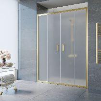 Душевая дверь Vegas-Glass Z2P 150 09 10 профиль золото стекло сатин