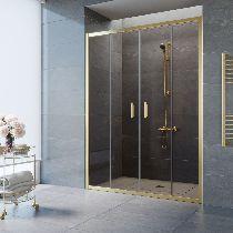Душевая дверь Vegas-Glass Z2P 150 09 05 профиль золото стекло бронза
