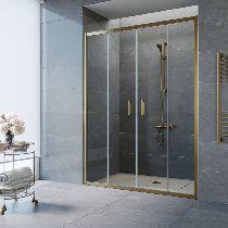 Душевая дверь Vegas-Glass Z2P 150 05 01 профиль бронза стекло прозрачное