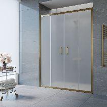 Душевая дверь Vegas-Glass Z2P 150 05 10 профиль бронза стекло сатин