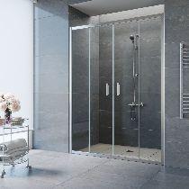 Душевая дверь Vegas-Glass Z2P 160 08 01 профиль хром стекло прозрачное