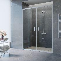 Душевая дверь Vegas-Glass Z2P 160 07 01 профиль матовый хром стекло прозрачное