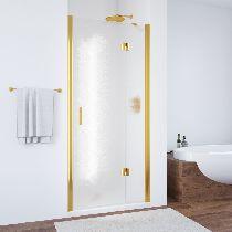 Душевая дверь Vegas-Glass AFP 0100 09 02 L профиль золото стекло шиншилла
