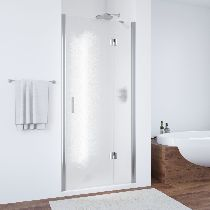 Душевая дверь Vegas-Glass AFP 0110 08 02 R профиль хром стекло шиншилла