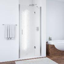 Душевая дверь Vegas-Glass AFP 0110 08 02 L профиль хром стекло шиншилла