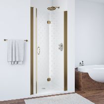 Душевая дверь Vegas-Glass GPS 0070 05 R05 L профиль бронза стекло флёр-де-лис