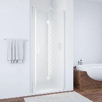 Душевая дверь Vegas-Glass GPS 0075 01 R05 L профиль белый стекло флёр-де-лис