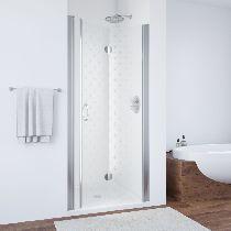 Душевая дверь Vegas-Glass GPS 0075 08 R05 L профиль хром стекло флёр-де-лис