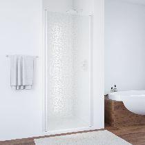Душевая дверь Vegas-Glass EP 0060 01 R03 профиль белый стекло фея