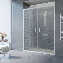 Душевая дверь Vegas-Glass Z2P 170 01 R04 профиль белый стекло ретро
