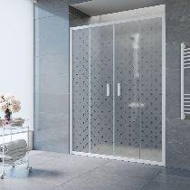 Душевая дверь Vegas-Glass Z2P 170 01 R05 профиль белый стекло флёр-де-лис