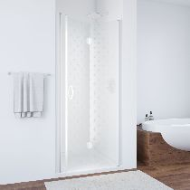 Душевая дверь Vegas-Glass GPS 0090 01 R05 L профиль белый стекло флёр-де-лис