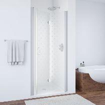 Душевая дверь Vegas-Glass GPS 0100 07 R05 R профиль матовый хром стекло флёр-де-лис