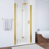Душевая дверь Vegas-Glass GPS 0100 09 R05 L профиль золото стекло флёр-де-лис