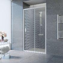 Душевая дверь Vegas-Glass ZP 0105 01 R04 профиль белый стекло ретро
