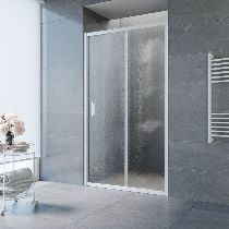 Душевая дверь Vegas-Glass ZP 0115 01 02 профиль белый стекло шиншилла