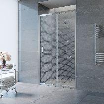 Душевая дверь Vegas-Glass ZP 0125 08 R04 профиль хром стекло ретро