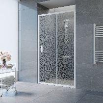 Душевая дверь Vegas-Glass ZP 0135 01 R03 профиль белый стекло фея