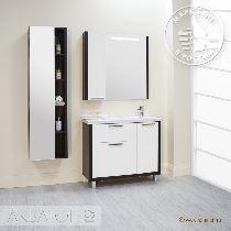Зеркальный шкаф Акватон Брайтон 100 венге