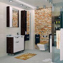 Зеркальный шкаф Акватон Брайтон 80 венге