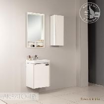Зеркальный шкаф Акватон Йорк 50 белый/выбеленное дерево