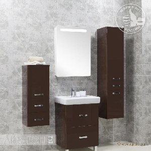 Комплект мебели Акватон Америна 60 Н тёмно-коричневая