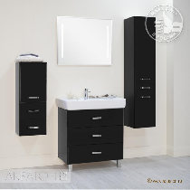 Комплект мебели Акватон Америна 80 М чёрная