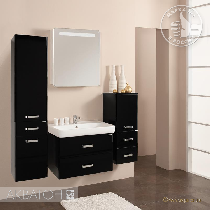 Комплект мебели Акватон Америна 80 черный глянец