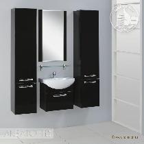 Комплект мебели Акватон  Ария 50 черный глянец