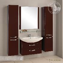 Комплект мебели Акватон Ария 80 М тёмно-коричневая