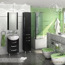 Комплект мебели Акватон Ария 50 Н чёрный глянец