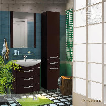 Комплект мебели Акватон Ария 65 Н темно-коричневая