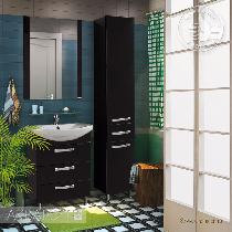 Комплект мебели Акватон Ария 65 Н чёрный глянец