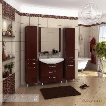Комплект мебели Акватон  Ария 80 Н тёмно-коричневая