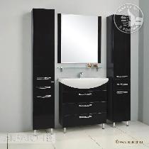 Комплект мебели Акватон  Ария 80 Н чёрный глянец
