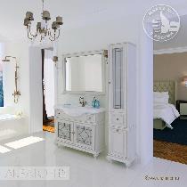 Комплект мебели Акватон Беатриче 105 слоновая кость с патиной