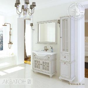 Комплект мебели Акватон Беатриче 85 слоновая кость с патиной