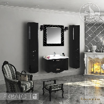 Комплект мебели Акватон Венеция 90 черный глянец