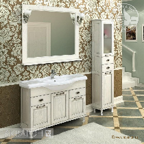 Комплект мебели Акватон Жерона 105 белое серебро