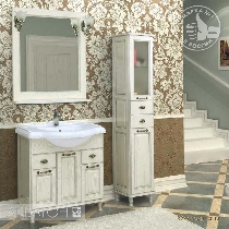 Комплект мебели Акватон Жерона 85 белое серебро