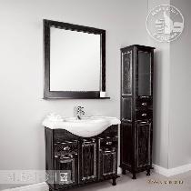 Комплект мебели Акватон Жерона 85 чёрное серебро