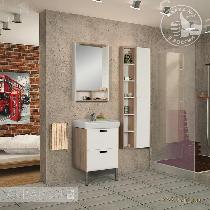 Комплект мебели Акватон Йорк 55 белый/дуб сонома