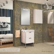 Комплект мебели Акватон Йорк 55 белый/ясень фабрик