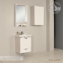 Комплект мебели Акватон Йорк 55 М белый/ясень фабрик